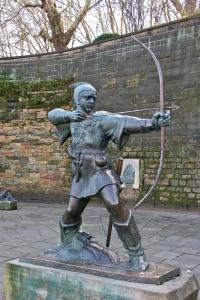 Robin Hood statue outside of Nottingham Castle